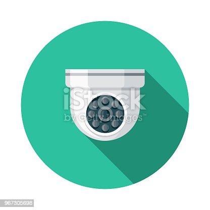 istock Surveillance Flat Design Crime & Punishment Icon 967305698