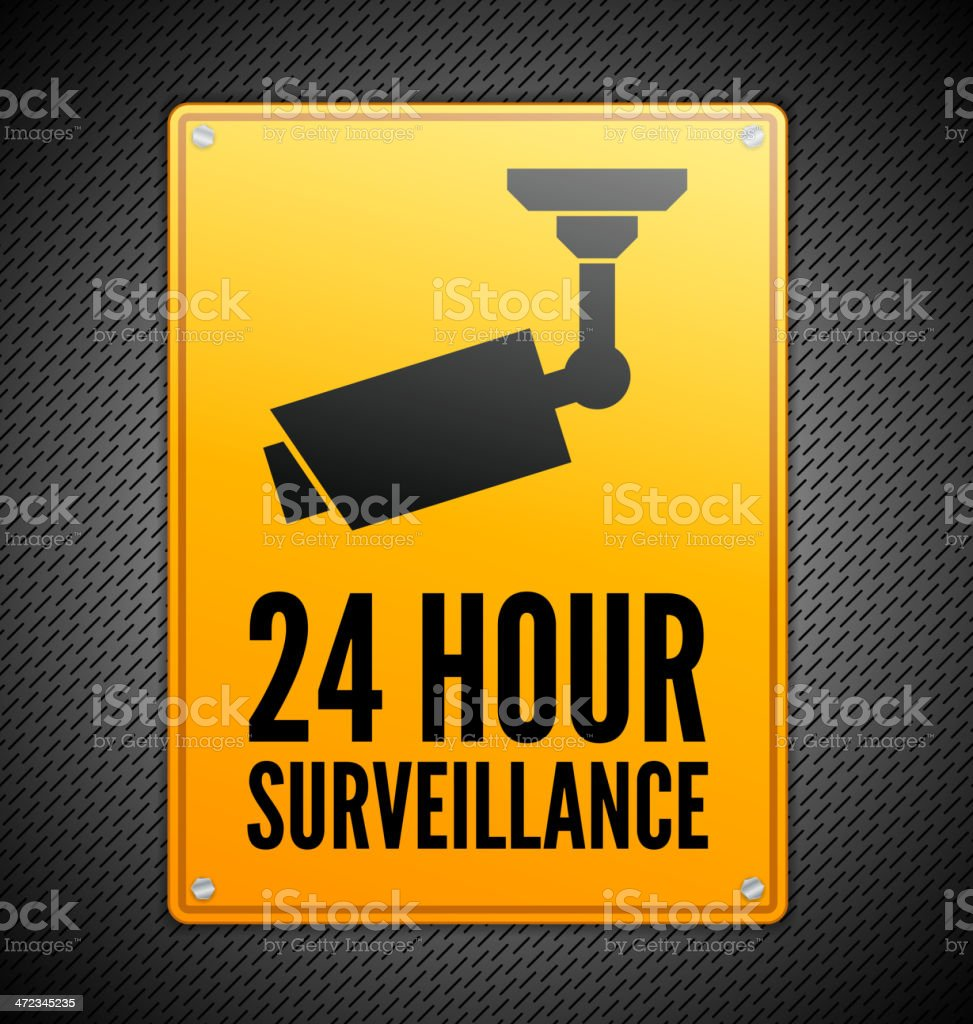 Surveillance sign royalty-free surveillance sign stock vector art & more images of 20-24 years