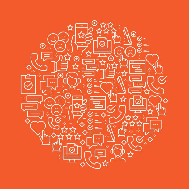 illustrations, cliparts, dessins animés et icônes de sondage et témoignages conception de modèles connexes - relation client