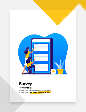 Survey Concept Flat Design for Posters, Covers and Banners. Modern Flat Design Vector Illustration.