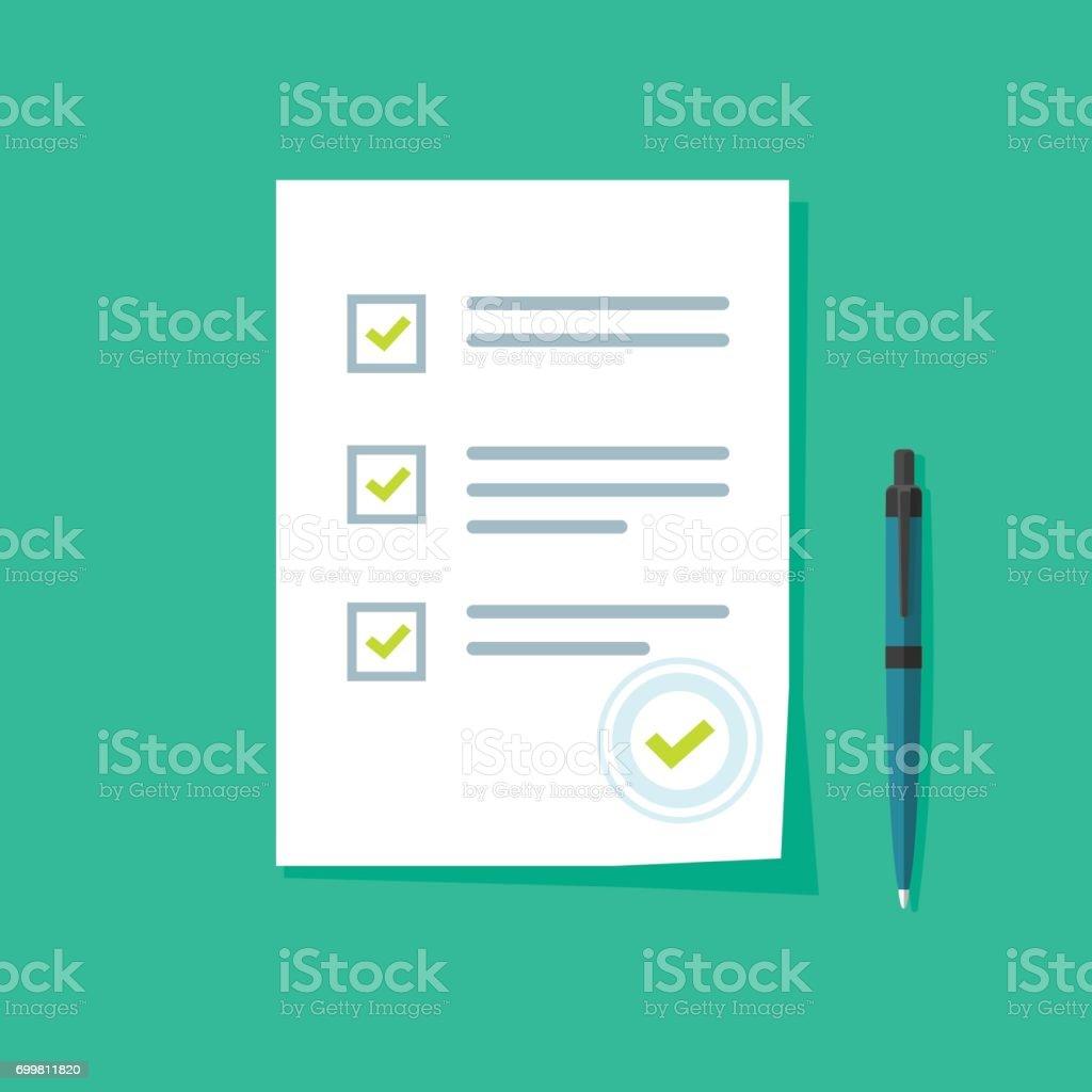 Survey form icon vector, good exam results, quiz, interview assessment vector art illustration