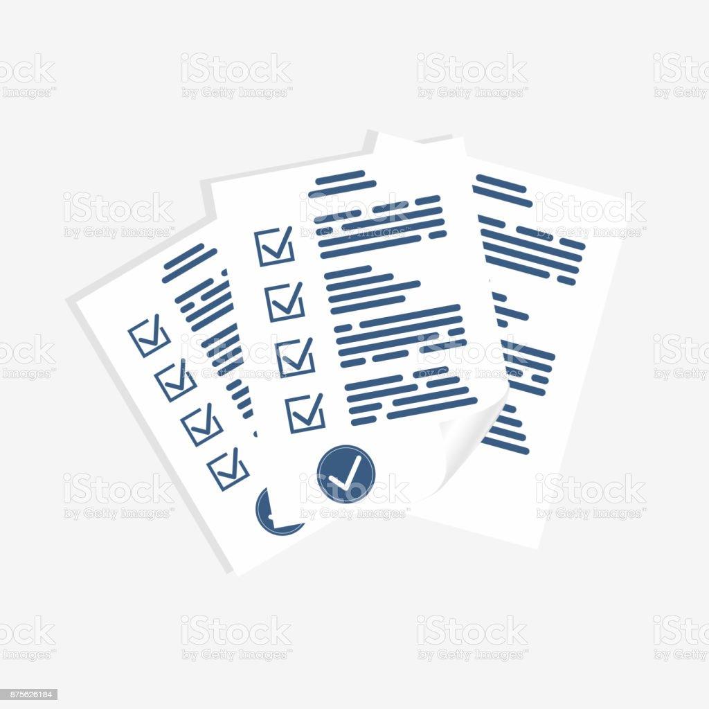 survey form paper sheets exam form checklist for assessment