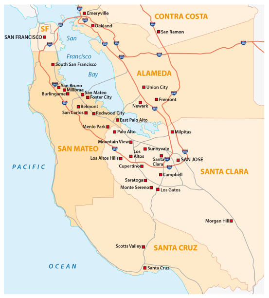 Top 60 Central California Clip Art Vector Graphics And - Central-valley-on-us-map