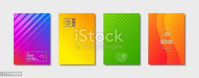 Survey progress, Clock and Sync line icons set. Cover design, poster template. Question mark sign. Algorithm, Time or watch, Synchronize. Ask support. Business set. Abstract background. Vector