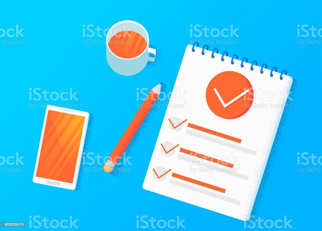Ilustración de Investigación Por Encuestas Tomar Una Decisión Sobre ...