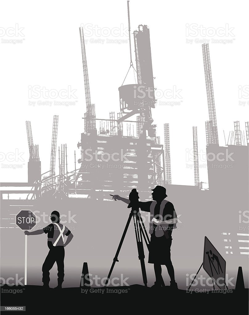 Surveyor Vector Silhouette royalty-free stock vector art