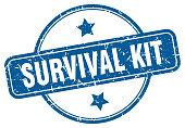 istock survival kit grunge stamp. survival kit round vintage stamp 1253237202