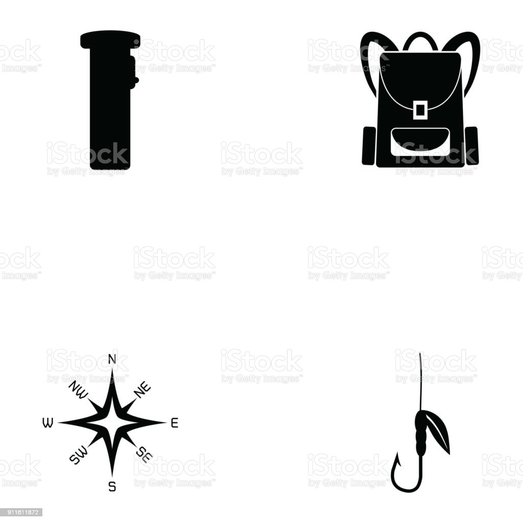 Survival Kit Icon Set Stock Vector Art & More Images of
