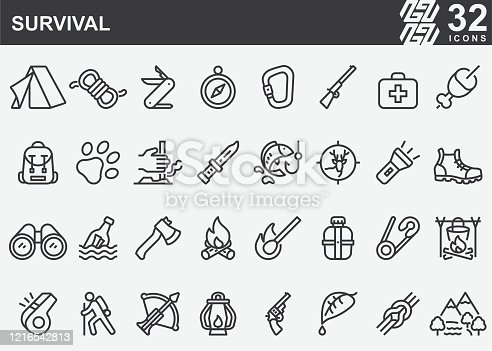 Survival Line Icons