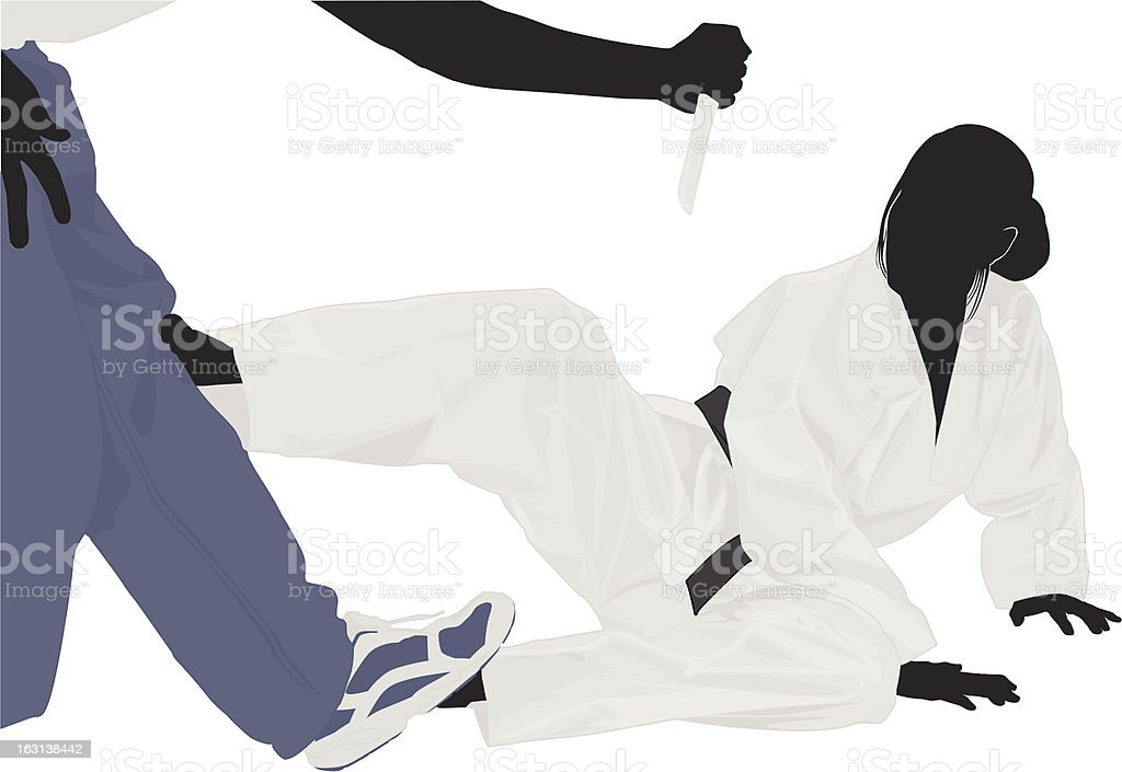 Survival training vector art illustration