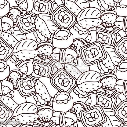 istock Sushi nigiri de patrones sin fisuras. Vector. 940975388 istock ...