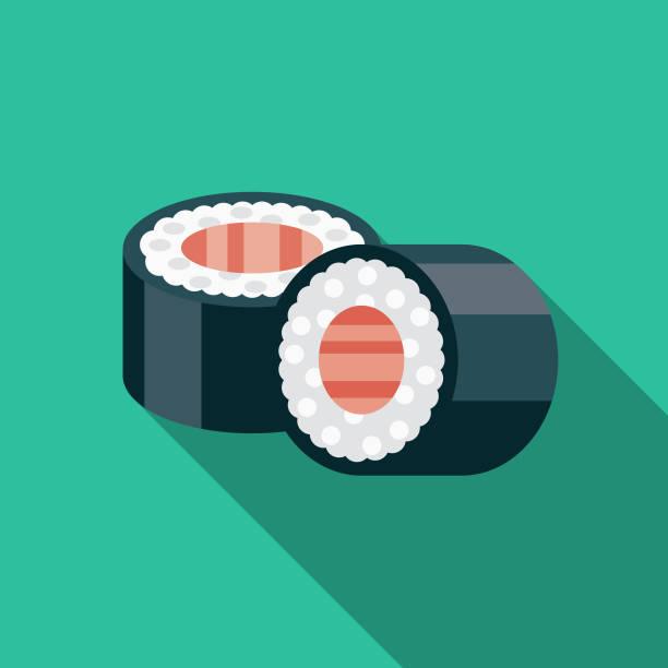 sushi flat design japan icon - sushi stock illustrations