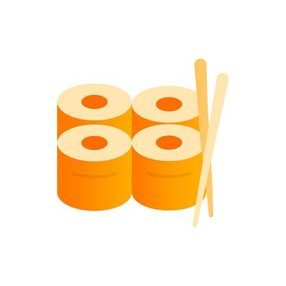 Sushi Flat Icon. Flat Design Vector Illustration