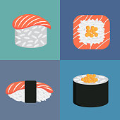 sushi icon. eps 10 vector file