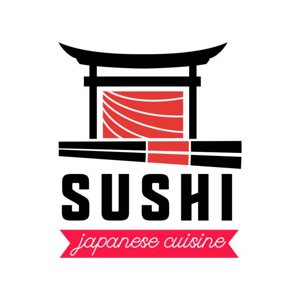sushi japanese food icon isolated on transparent background stock illustration - sushi stock illustrations
