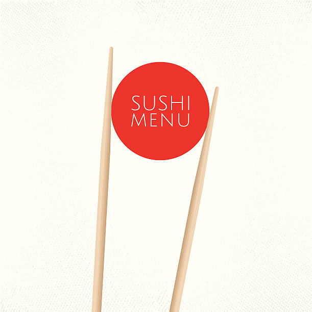 Modèle de menu de sushis couverture - Illustration vectorielle