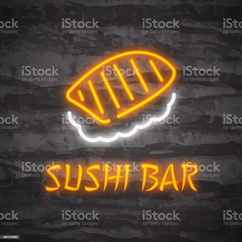 sushi neon logo
