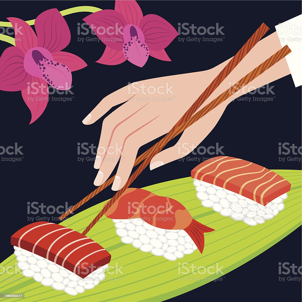 Sushi Party royalty-free stock vector art