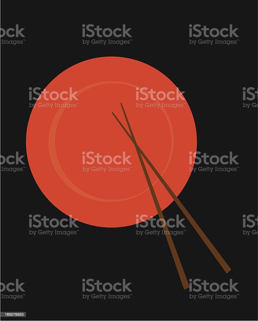 Sushi Plate vector art illustration