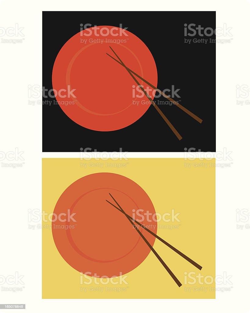 Sushi Plates royalty-free stock vector art