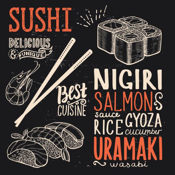 Affiche de Sushi Restaurant. - Illustration vectorielle