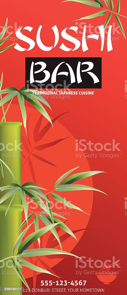 Sushi restaurant menu template or background with bamboo stock sushi restaurant menu template or background with bamboo royalty free stock vector art pronofoot35fo Choice Image