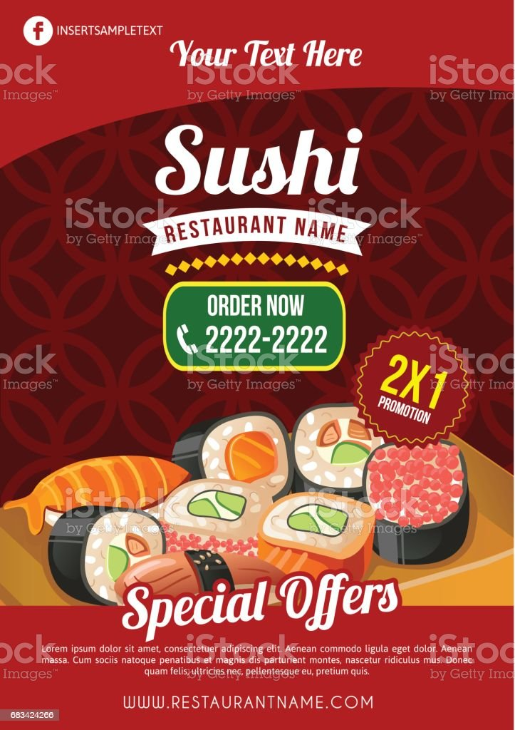 Sushi Restaurant Template Stock Illustration Download Image Now Istock