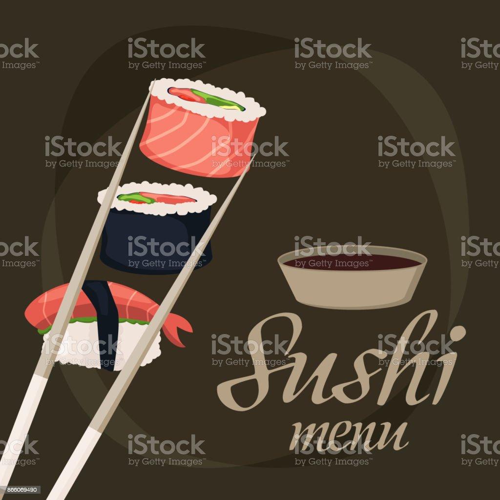 Sushisashimi Meeresfrüchte Fisch Reis Hintergrund Japanisches Essen ...