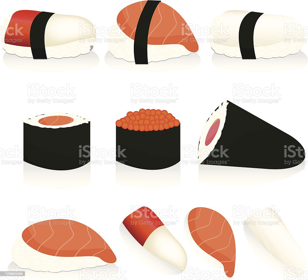 sushi set royalty-free stock vector art