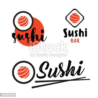 Sushi template. Japanese food. Asian cafe