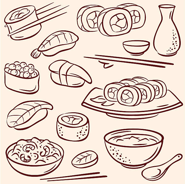 Des sushis - Illustration vectorielle