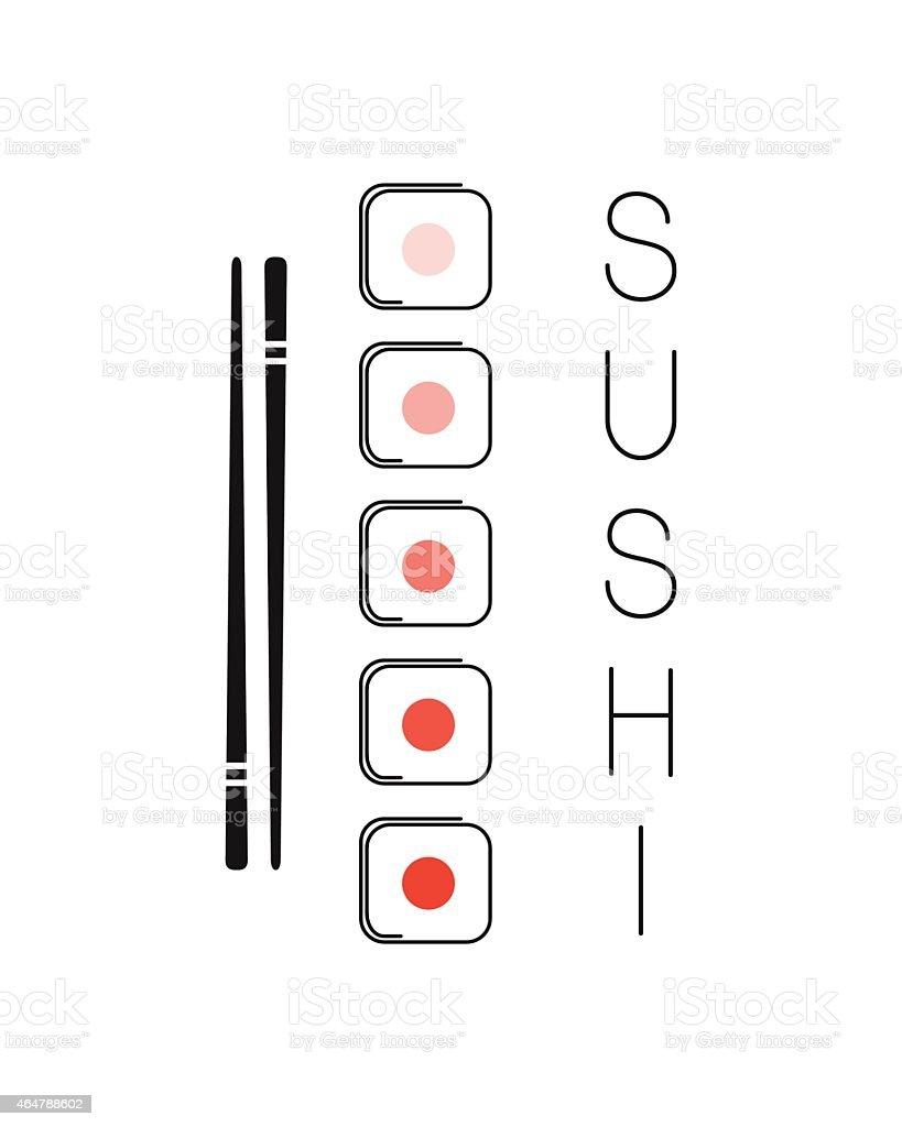 Sushi vector art illustration