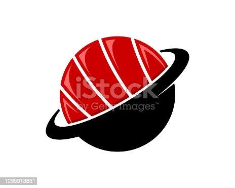 istock Sushi with planet shape logo 1295913831