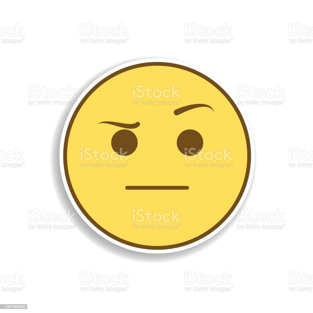 suspect colored emoji sticker icon. Element of emoji for mobile concept and web apps illustration. vector art illustration