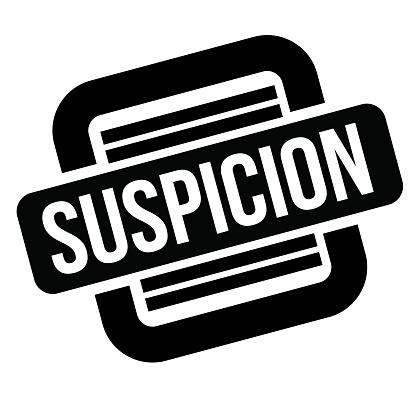 suspicion black stamp