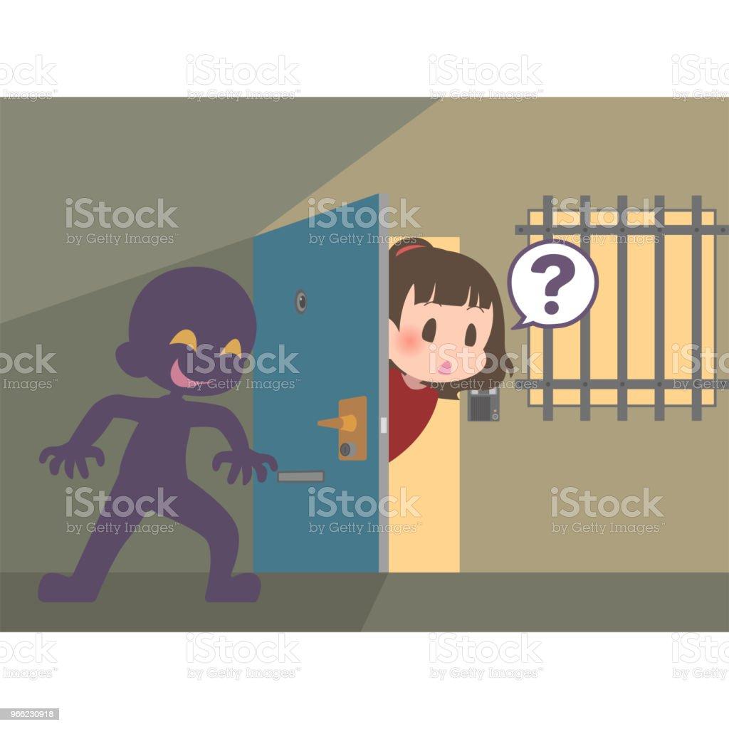 Ilustración de Persona Sospechosa Escondiendo En El Punto Ciego De ...