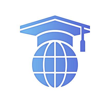 Sustainability Education Gradient Color & Papercut Style Icon Design