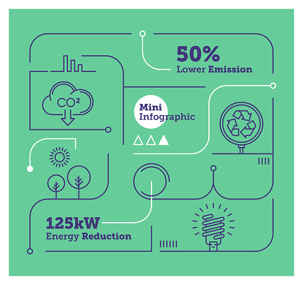 Vector Infographic Line Design Elements for Sustainability