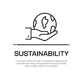 Sustainability Vector Line Icon - Simple Thin Line Icon, Premium Quality Design Element