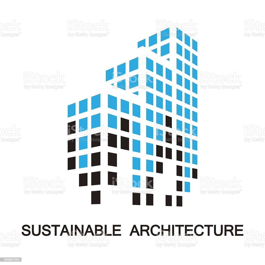 sustainable architecture,building,icon and symbol vector art illustration