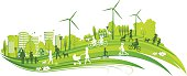 Sustainable Green City. EPS 10.