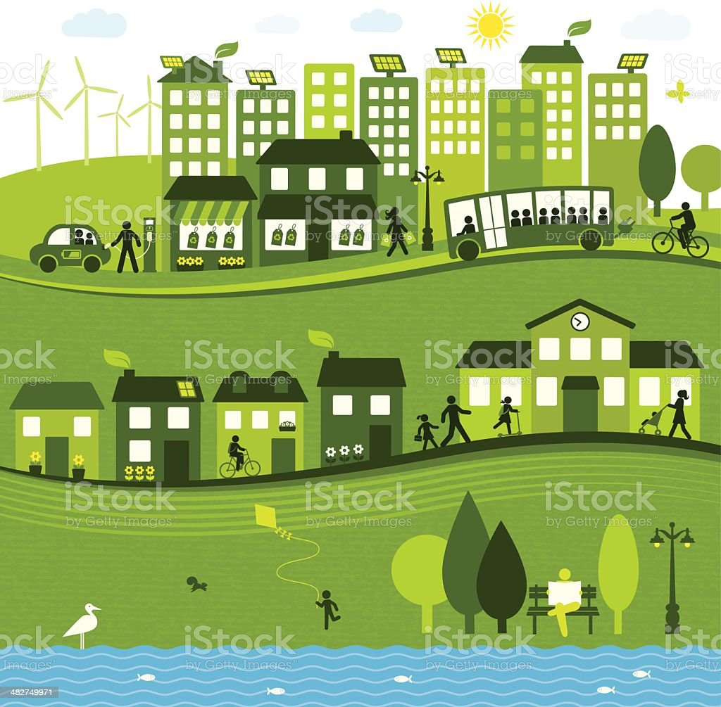 Sustainable City royalty-free sustainable city stock vector art & more images of adult