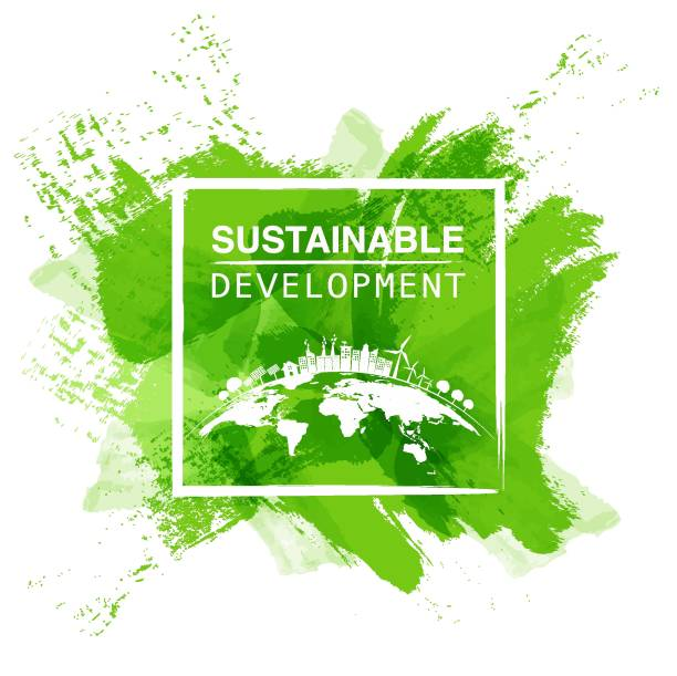 sustainable development logo - sustainability stock illustrations