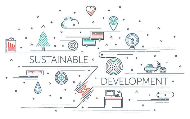 illustrazioni stock, clip art, cartoni animati e icone di tendenza di sviluppo sostenibile - composting