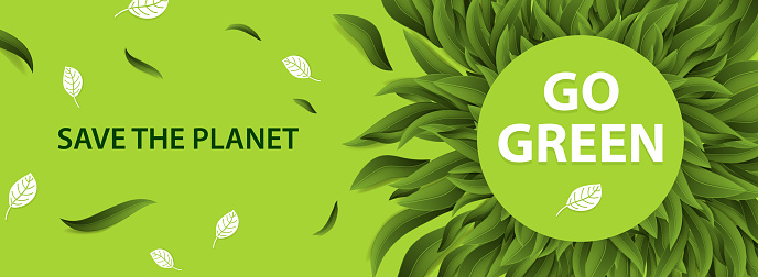 Sustainable environment, Saving environmental sustainability in ecosystem, International day of forest, World forestry day and CSR Go green concept. Vector illustration