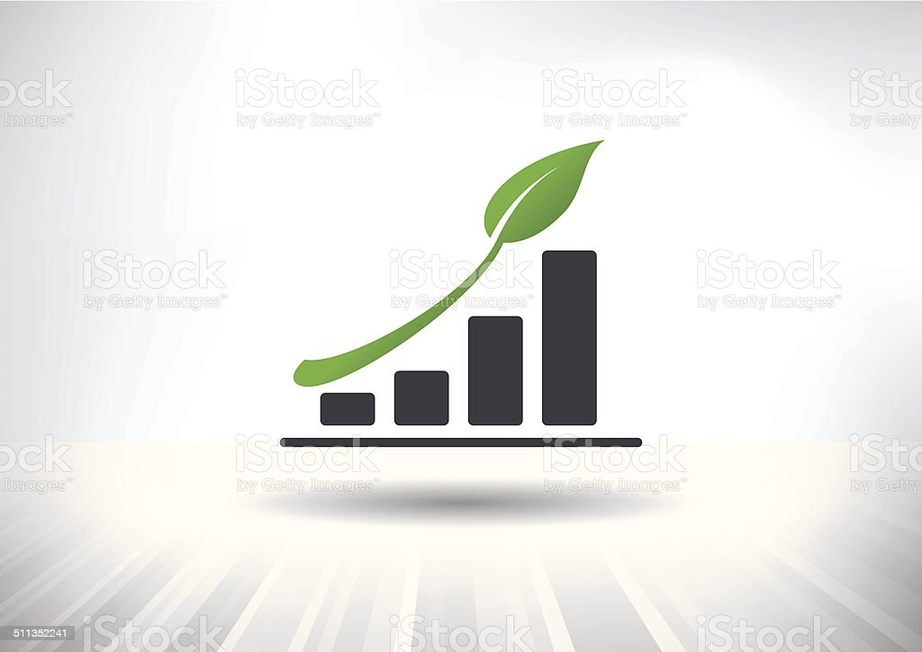 Sustainable Green Growth Icon vector art illustration