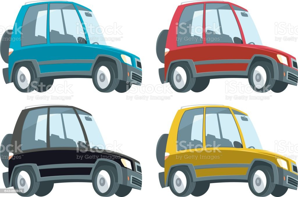 Suv car vector art illustration