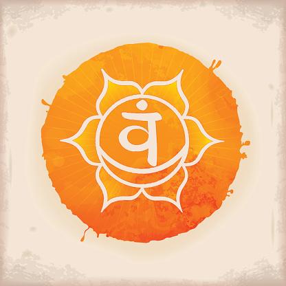 Svadhishthana - Vintage Watercolour Chakra Symbol 2