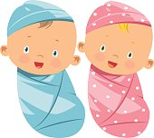 Vector swaddling clothes