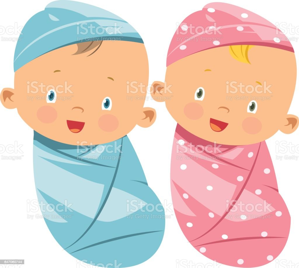 swaddling clothes vector art illustration